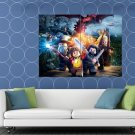 Lego The Hobbit Characters Awesome Video Game Art Huge 48x36 Print Poster