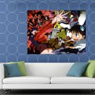 Neon Genesis Evangelion Characters Amazing Anime Manga HUGE 48x36 Print POSTER
