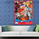 Godzilla Vs Mechagodzilla 1974 Movie Retro Vintage Art HUGE 48x36 Print POSTER