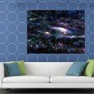 Amazing Space Stars Galaxy Speed Light Nebula HUGE 48x36 Print POSTER