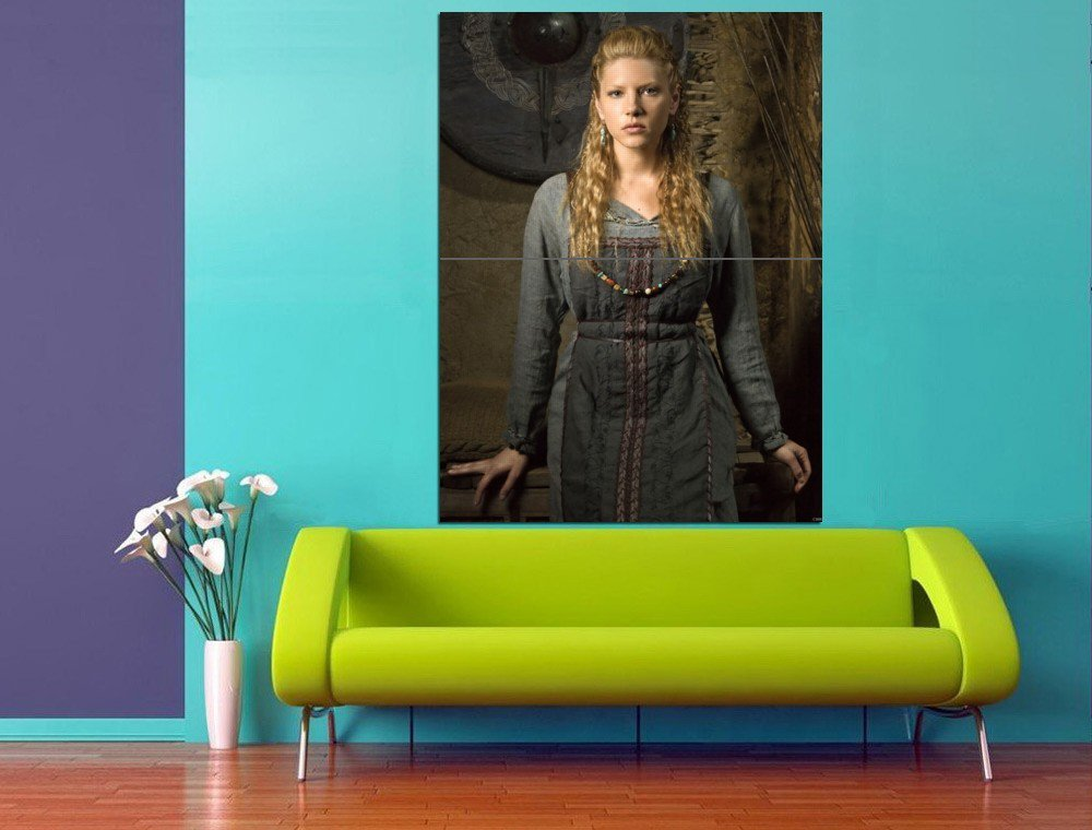 Vikings TV Series Katheryn Winnick 47x35 Print Poster