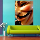 Guy Fawkes Mask 47x35 Print Poster