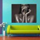 Sexy Tyra Banks Naked 47x35 Print Poster