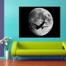 Astrophoto Full Moon Plane BW 47x35 Print Poster