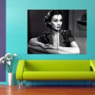 Vivien Leigh Hollywood Beauty Icon Amazing Actress BW 47x35 Print Poster