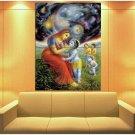 Krishna Mother Yasoda Universe 47x35 Print Poster
