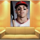 Mike Trout Los Angeles Angels Baseball Sport 47x35 Print Poster