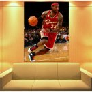 LeBron James Cleveland Cavaliers Basketball Sport 47x35 Print Poster