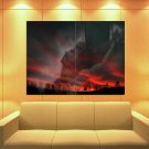 Jesus Christ Crucifixion Crown Of Thorns Sunset 47x35 Print Poster