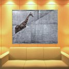 Funny Giraffe Stairs Abstract Art 47x35 Print Poster