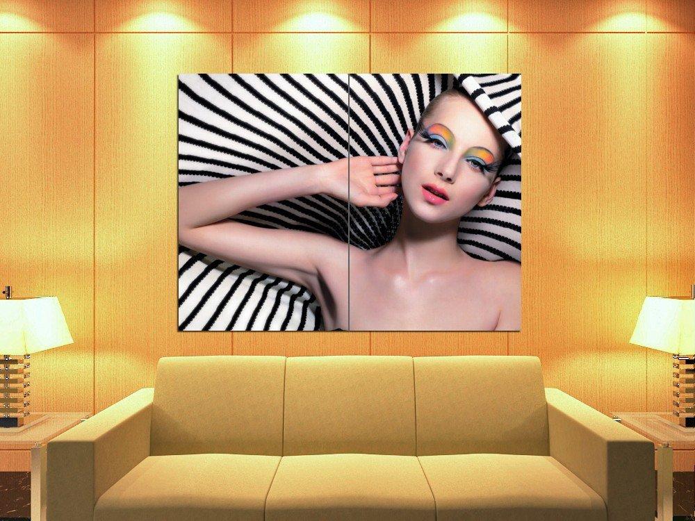 Make Up Fashion Zebra Beauty Salon 47x35 Print Poster