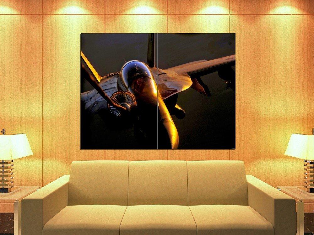 Bomber Pilot Sunset The McDonnell Douglas FA 18 Hornet 47x35 Print Poster