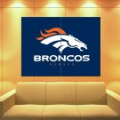 Denver Broncos Football Logo Hockey Sport Art Huge Giant Print Poster