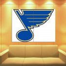 St Louis Blues Logo Hockey Sport Art Huge Giant Print Poster