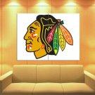 Chicago Blackhawks Logo Hockey Sport Art Huge Giant Print Poster