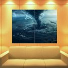 Tornado Sea Storm Lightning Twister Awesome Huge Giant Print Poster