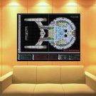 Starship Enterprise Spacecraft Star Trek Art Movie Huge Giant Print Poster