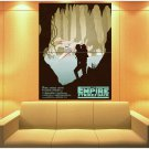 Star Wars Empire Strikes X Wing Yoda Luke Art Huge Giant Print Poster