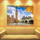 London Westminster Palace Big Ben Great Britain Huge Giant Print Poster