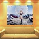 Mandy Lange Parachute Hot Sexy Babe Woman Car Huge Giant Print Poster