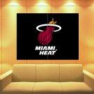 Miami Heat Logo Basketball Sport Huge Giant Print Poster