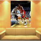 Hakeem Olajuwon Shaquille O Neal Basketball Huge Giant Print Poster