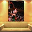 Hakeem Olajuwon Dunk Basketball Vintage Huge Giant Print Poster