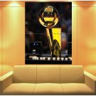 Los Angeles Lakers Champion Trophy Rings Basketball Huge Giant Print Poster
