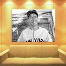 Joe Di Maggio New York Yankees Retro Bw Baseball Huge Giant Print Poster