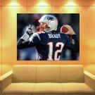 Tom Brady New England Patriots Football Sport Huge Giant Print Poster