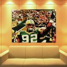 Reggie White Green Bay Packers Painting Art Football Huge Giant Print Poster