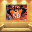 Von Miller Denver Broncos Football Sport Huge Giant Print Poster