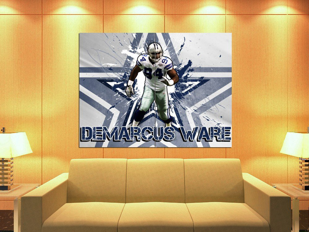 De Marcus Ware Dallas Cowboys Art Football Huge Giant Print Poster
