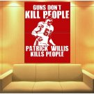 Patrick Willis San Francisco 49ers Painting Football HUGE GIANT Print POSTER