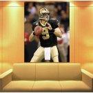 Drew Brees New Orleans Saints Football Sport Huge Giant Print Poster