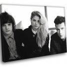 London Grammar Indie Pop Band Music BW 30x20 Framed Canvas Print