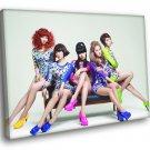 4Minute K Pop Band Music 30x20 Framed Canvas Print