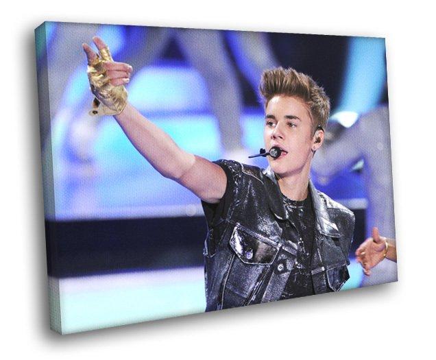 Justin Bieber Pop Singer Music 30x20 Framed Canvas Print