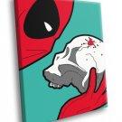 Deadpool Skull Blood Cool Art 30x20 Framed Canvas Print