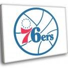 Philadelphia 76ers Logo Basketball Sport Art 30x20 Framed Canvas Print