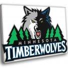 Minnesota Timberwolves Logo Basketball Sport Art 30x20 Framed Canvas Print