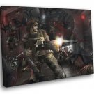 Aliens Marines Fight Rifle Cool Movie Art 30x20 Framed Canvas Print