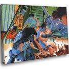 Akira Battle Fight Movie Anime Manga Art 30x20 Framed Canvas Print
