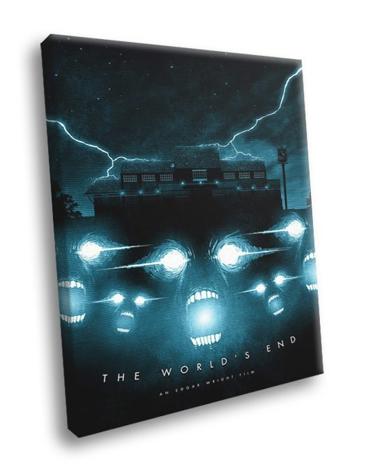 The World S End Movie 2013 Edgar Wright Aliens Art 30x20 Framed Canvas Print