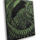 Alien Movie Green Black Artwork Giger Aliens Art 30x20 Framed Canvas Print