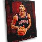 Derrick Rose Chicago Bulls MVP Art Basketball 30x20 Framed Canvas Print