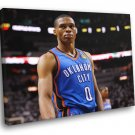 Russell Westbrook Oklahoma City Thunder Sport 30x20 Framed Canvas Print
