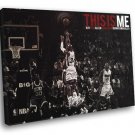 Ray Allen Miami Heat Three Point Shot Basketball 30x20 Framed Canvas Print