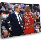 Michael Jordan Phil Jackson Chicago Bulls Sport 30x20 Framed Canvas Print