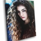 Lorde Beautiful Portrait Indie Pop Singer Rare 30x20 Framed Canvas Print